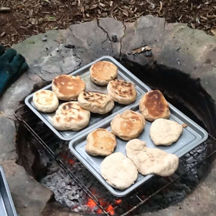 Bread making in forest school