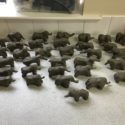 Elmer project, clay elephants
